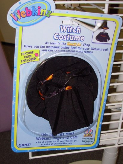 WEBKINZ WITCH COSTUME NEW SEALED IN PACKAGE GANZ