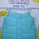 WEBKINZ BLUE BUBBLE VEST NEW SEALED IN PACKAGE GANZ