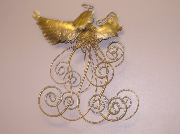 GOLDEN ANGEL CARD HOLDER CHRISTMAS HOLIDAY HOME DECOR NEW GANZ