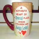 FOR MOM LATTE COFFEE MUG A MOTHERS HEART IS A SPECIAL PLACE WHERE...NEW GANZ