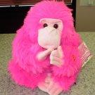 KISSING GORILLA MOMS DAY HOT PINK THROWS KISSES WITH HER HANDS NEW GANZ PLUSH STUFFED ANIMAL
