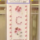 INITIAL CELL PHONE JEWEL STICKERS BY GANZ PEEL AND STICK NEW LETTER C PINK  WHITE AND CLEAR CRYSTALS