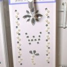 INITIAL CELL PHONE JEWEL STICKERS BY GANZ PEEL AND STICK NEW LETTER W WHITE AND CLEAR CRYSTALS