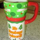 EXPRESS ITS TRAVEL MUG NO HUMBUGS ONBOARD  XMAS CERAMIC COFFEE MUG GANZ NEW HOLIDAY MUG