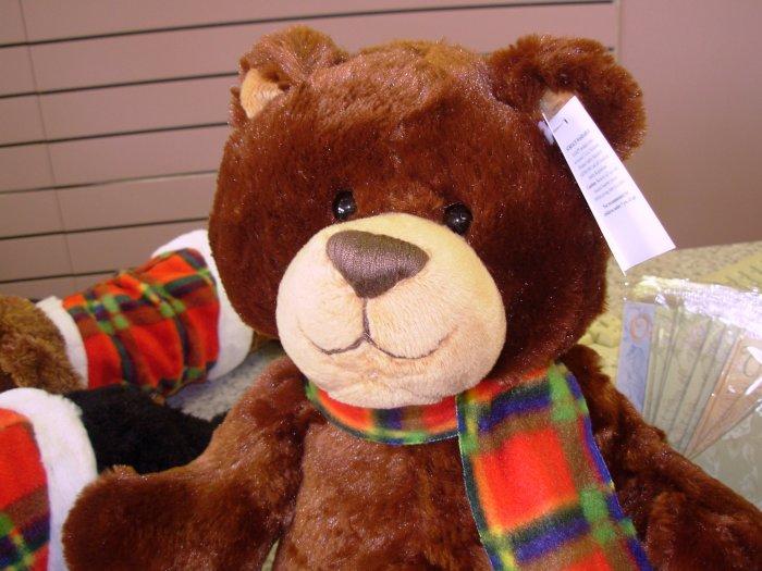 WINTER GRIZZBY PLUSH STUFFED ANIMAL TEDDY BEAR NEW GANZ TOY