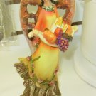 HARVEST ANGEL FIGURINE CARVED WOOD LOOK POLYSTONE RESIN NEW GANZ FALL HOLIDAY HOME DECOR