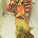NEW HARVEST ANGEL FIGURINE CARVED WOOD LOOK POLYSTONE RESIN GANZ FALL HOLIDAY HOME DECOR