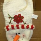 SNOWMAN BOTTLE WRAP WINE BAG NEW CBK GREAT HOSTESS GIFT NEW CBK CHRISTMAS HOLIDAY GIFT