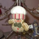 FLEECE GINGERBREAD CHRISTMAS ORNAMENT NEW GANZ HOLIDAY TREE HOME DECOR