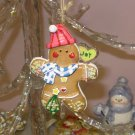 CHRISTMAS GINGERBREAD MAN IN STOCKING CAP ORNAMENT NEW GANZ HOLIDAY TREE HOME DECOR