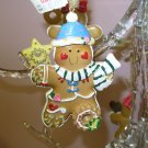 CHRISTMAS GINGERBREAD COOKIE IN STOCKING CAP ORNAMENT NEW GANZ HOLIDAY TREE HOME DECOR