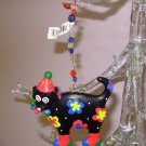 CHRISTMAS KITTY CAT ORNAMENT BLACK RESIN NEW GANZ HOLIDAY HOME DECOR