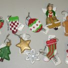 SET OF TEN MINI CHRISTMAS ORNAMENTS NEW GANZ HOME HOLIDAY DECOR