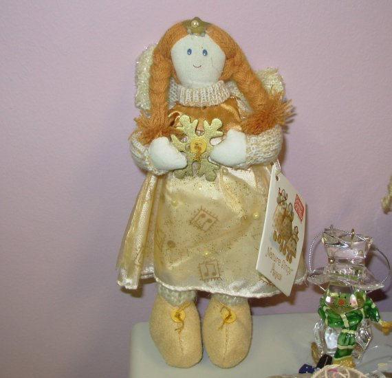 GUND NATURE SINGS GOLD ANGEL DOLL PIGTAILS CREATED BY SWEET HOME NEW RETIRED