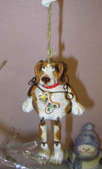 DOG BEAGLE CHRISTMAS ORNAMENTS SHELF SITTER NEW GANZ HOME HOLIDAY DECOR