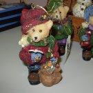 OLD FASHIONED LOOK TEDDYBEAR CHRISTMAS ORNAMENT NEW GANZ HOLIDAY DECOR