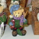 TEDDYBEAR WITH SKIS CHRISTMAS ORNAMENT NOSTALGIC LOOK NEW GANZ HOLIDAY DECOR