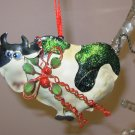 WHIMSICAL COW CHRISTMAS ORNAMENT NEW GANZ HOME HOLIDAY DECOR