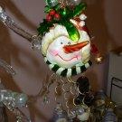 WHIMSICAL SNOWMAN CHRISTMAS ORNAMENT NEW GANZ HOME HOLIDAY DECOR
