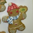 CHRISTMAS GINGERBREAD MAN IN STOCKING CAP MAGNET NEW GANZ HOLIDAY TREE HOME DECOR