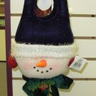 DOORHANGER CHRISTMAS SNOWMAN NEW GANZ HOME DECOR