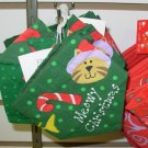 MEOWY CHRISTMAS SCARF FOR FURBABIES KITTY CAT XMAS XS NEW GANZ