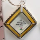 AN OPEN MIND AFFIRMATION ORNAMENT SUNCATCHER NEW GANZ HOME DECOR GLASS METAL