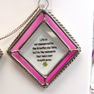 AFFIRMATION ORNAMENT SUNCATCHER LIFE IS NOT MEASURED BY NEW GANZ HOME DECOR GLASS METAL