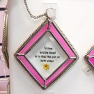 AFFIRMATION ORNAMENT SUNCATCHER TO LOVE NEW GANZ HOME DECOR GLASS METAL