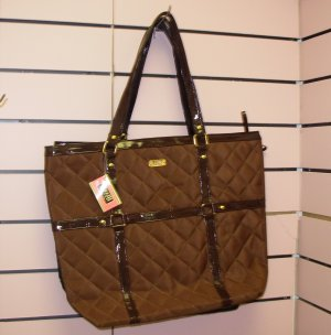 BROWN MAGGIE B CLOTH TOTE BAG OVER-SIZED PURSE NEW GANZ GIFT FOR MOM MOTHERS DAY