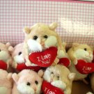 LIL LOVES VALENTINES DAY I LOVE YOU HAMSTER CREAM WHITE WITH A HEART NEW GANZ PLUSH STUFFED ANIMAL