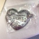 FOR MOTHERS DAY PAPERWEIGHT BRUSHED METAL THREE HEARTS LOVE THEME NEW GANZ