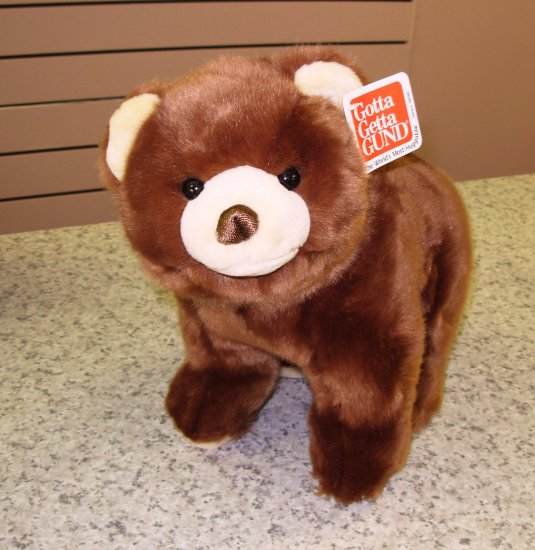 GUND CUBBINS NEW WITH TAGS PLUSH STUFFED ANIMAL BEAR BROWN STANDING
