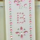 INITIAL  JEWEL STICKERS BY GANZ PEEL AND STICK NEW LETTER B PINK AND CLEAR CRYSTALS