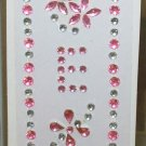 INITIAL JEWEL STICKERS BY GANZ PEEL AND STICK NEW LETTER E PINK  AND CLEAR CRYSTALS