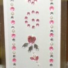 INITIAL JEWEL STICKERS BY GANZ PEEL AND STICK NEW LETTER G WHITE PEARL PINK AND CLEAR CRYSTALS