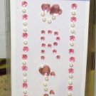 INITIAL JEWEL STICKERS BY GANZ PEEL AND STICK NEW LETTER R WHITE PEARL AND PINK CRYSTALS