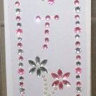 INITIAL JEWEL STICKERS BY GANZ PEEL AND STICK NEW LETTER T WHITE PEARL PINK AND CLEAR  CRYSTALS