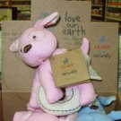 GUND TEETHERS LOVE OUR EARTH ORGANIC COTTON ECO FRIENDLY BABY GUND PINK MACHINE WASHABLE