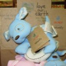 GUND TEETHERS LOVE OUR EARTH ORGANIC COTTON ECO FRIENDLY BABY GUND BLUE MACHINE WASHABLE