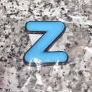 INITIAL MAGNET LETTER Z BLUE AND BLACK SOFT RUBBER NEW