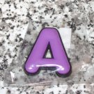 INITIAL MAGNET LETTER A PURPLE AND BLACK SOFT RUBBER NEW