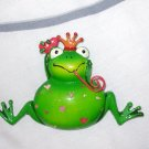 FROG PRINCE MAGNET OFFERING YOU A HEART GREEN WITH PINK AND RED HEARTS NEW KITCHEN DECOR