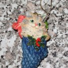 CALICO KITTY CAT CHRISTMAS ORNAMENT POSSIBLE DREAMS LTD 1992 ROSS