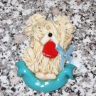 ARTISAN CRAFTED PUPPY DOG CHRISTMAS ORNAMENT SHEEPDOG