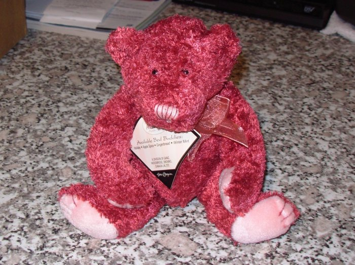 BED BUDDIES PLUSH STUFFED SCENTED TEDDYBEAR APPLE SPICE NEW GANZ 2001 TIME AND AGAIN XMAS RETIRED
