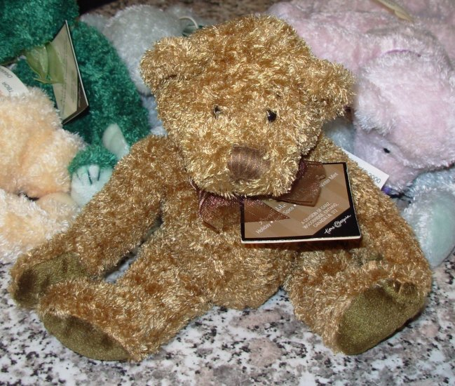 GINGERSNAP TIME AND AGAIN BED BUDDIES TEDDYBEAR PLUSH STUFFED ANIMAL NEW GANZ 2001 RETIRED