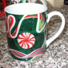 CHRISTMAS MUG DEPT 56 RIBBON CANDY 1991 CHERYL JOHNSON ARTIST KITCHEN COLLECTIBLE
