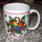 COFFEE MUG MIYAZAKI CREATE FRUITS RIBBON HOLLY CHRISTMAS HOLIDAY KITCHEN COLLECTIBLE