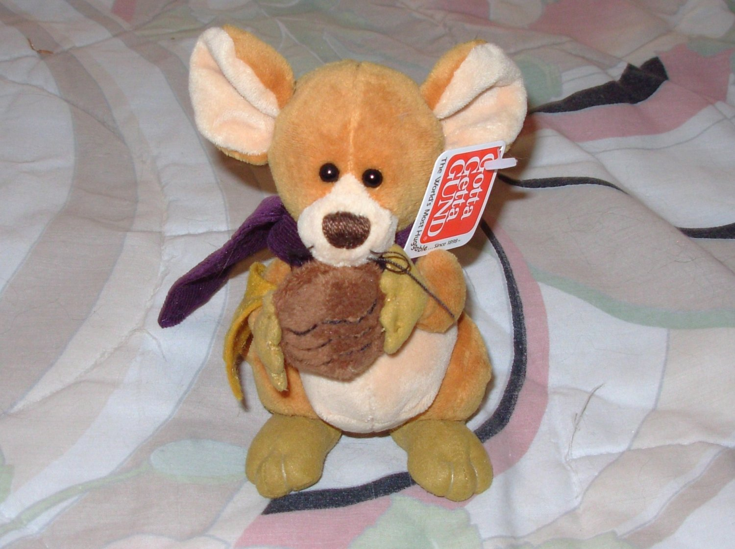 FIELDS RETIRED GUND AUTUMN MOUSE PLUSH STUFFED ANIMAL NEW WITH ORIGINAL TAGS